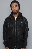 <b>Obey</b><br />The Rapture Bomber Jacket in Black