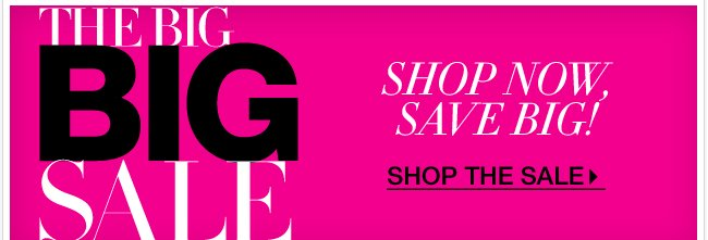 The BIG BIG Sale: Shop NOW, Save BIG!