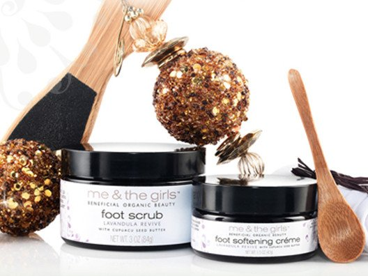 Me & The Girls Lavendula Revive Foot Scrub and Foot Crème Bundle from Sophie Uliano