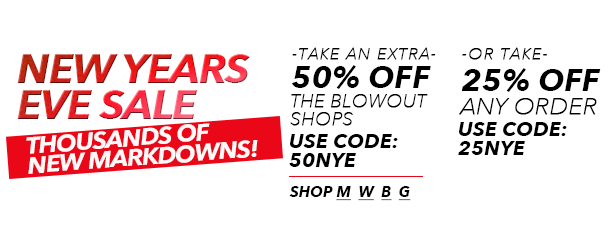 New Years Eve Sale! 1000s of new markdownds.