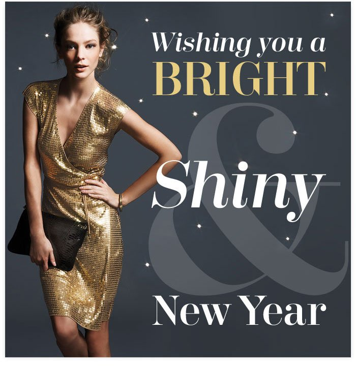Wishing you a bright shiny new year