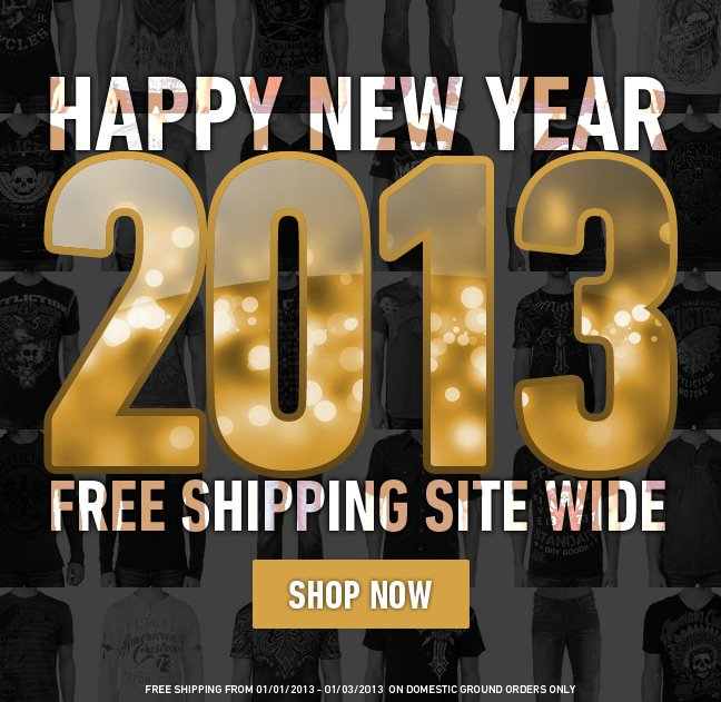 Happy New Year + Free Shipping site-wide!