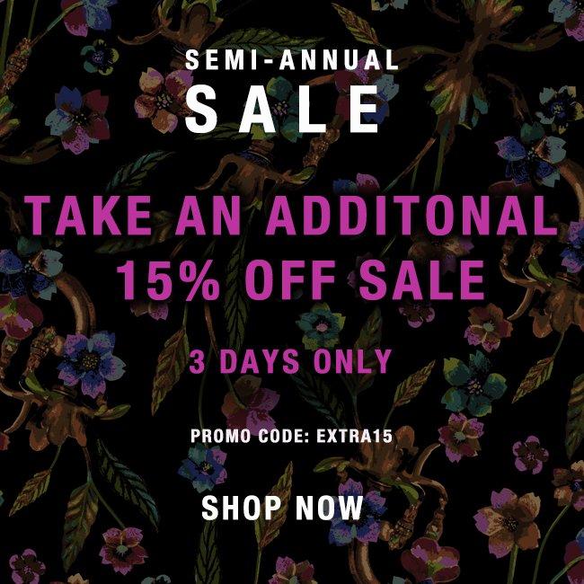 semmi-annual sale