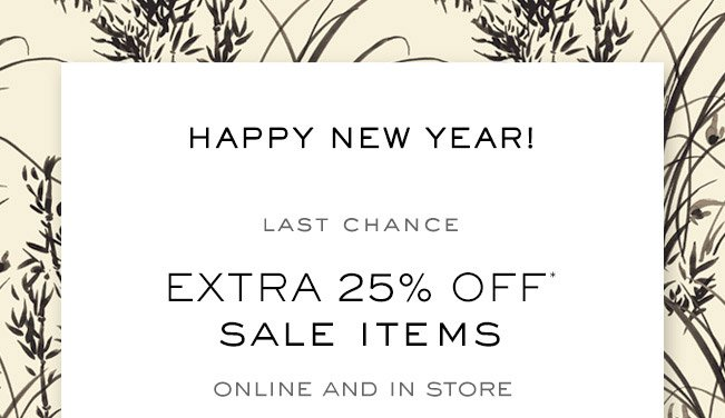Extra 25 percent off sale items