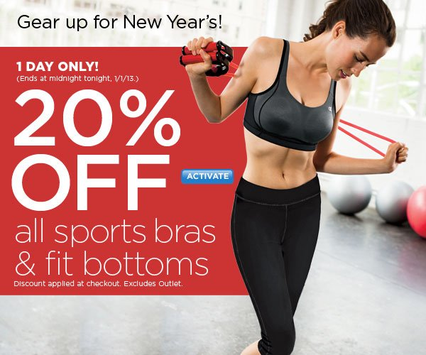 20% OFF all bras & fit bottoms