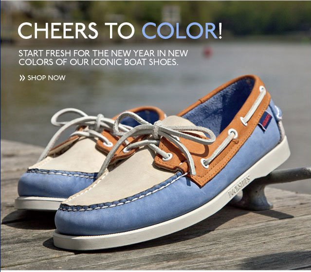 Cheers to Color! Start Fresh for the New Year in New Colors of Our Iconic Boat Shoes. Shop Now