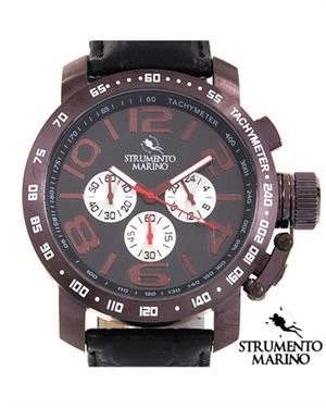 Brand New STRUMENTO MARINO Stainless Steel and Leather Watch $109