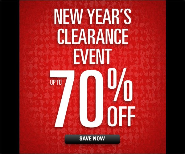 New Year's Clearance Event up to 70% off