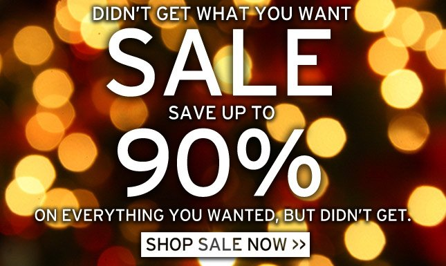 Up to 90% OFF Sale.