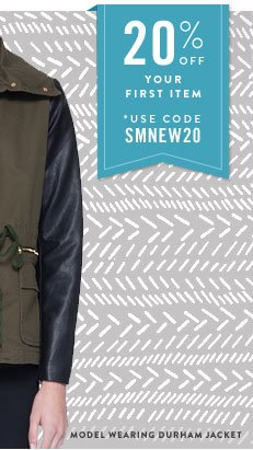 20% off your first item *Use code SMNEW20