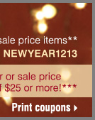 Ends tomorrow! New Year's Sale. Print coupons