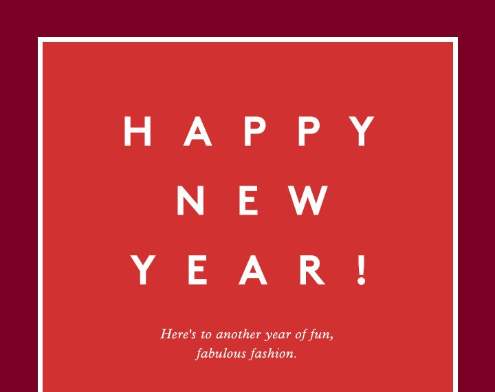 Wishing you a very happy new year from Barneys New York!