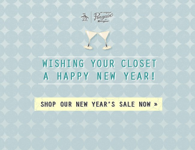 Wishing your closet a Happy New Year!