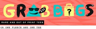 Grab Bags   Rare and our of print tees