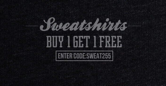 Sweatshirts: Buy 1, Get 1 Free