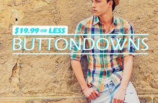 Buttondowns $19.99 or less