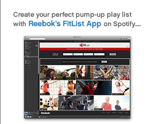 Create your perfect pump-up play list with Reebok's FitList App on Spotify…
