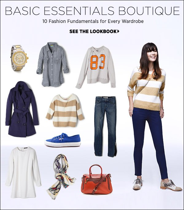 Anchor your closet with the fundamentals of fashion. Shop our top 10 essentials for every wardrobe and how-to-wear tips in our latest lookbook. Shop our top 10 fashion essentials >>