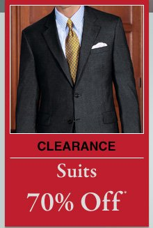 Clearance Suits - 70% Off*
