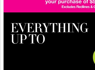 Everything up to 80% off! Shop Now!