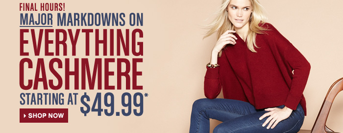 Save on Everything Cashmere