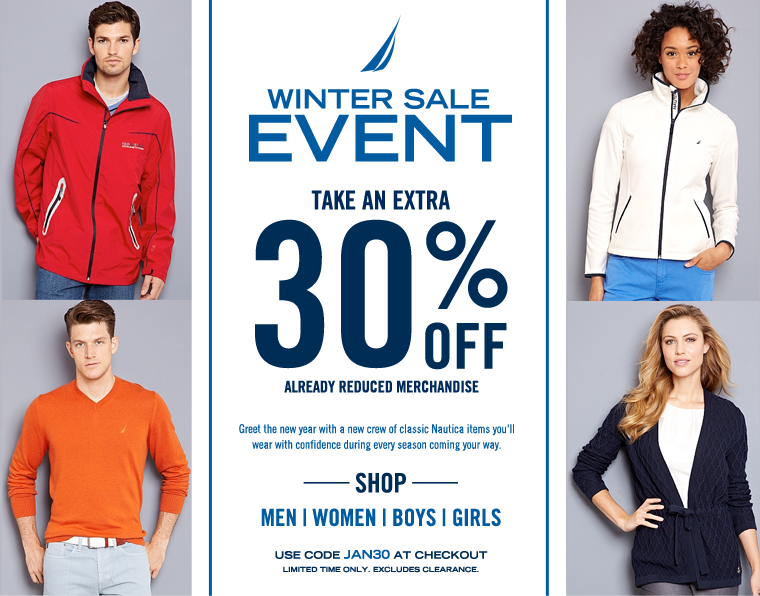 Take An Extra 30% OFF already reduced merchandise.