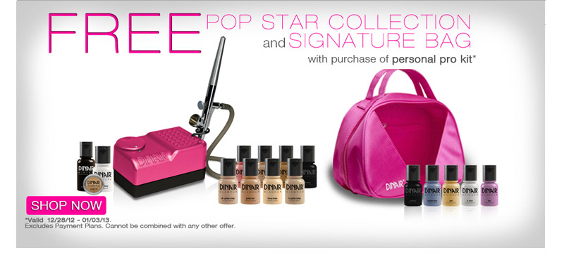Free Pop Star Collection and Signature Bag with Purchase of Personal Pro Kit