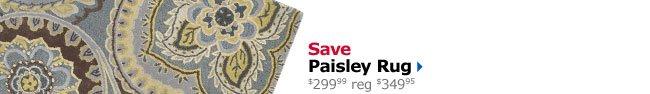 Save Paisley Rug $299.99 reg $349.95