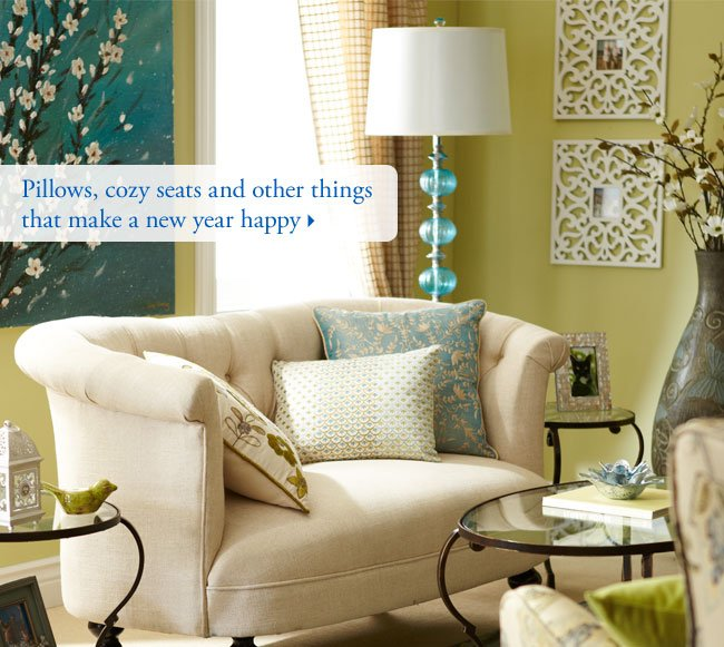 Pillows, cozy seats and other things that make a new year happy