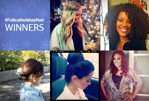 #FolicaHolidayHair Winners