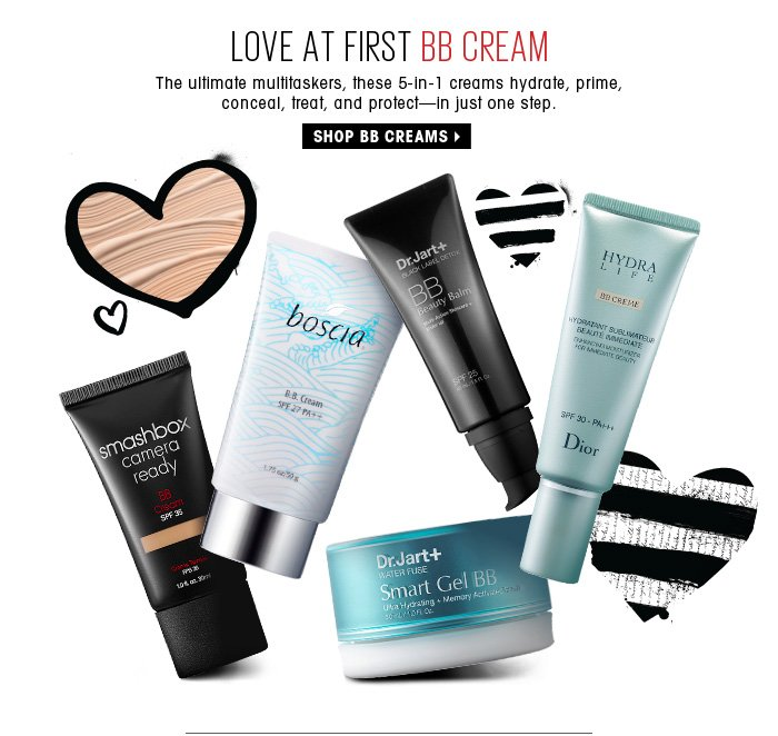 Love At First BB Cream. The ultimate multitaskers, these 5-in-1 creams hydrate, prime, conceal, correct and protect - in just one step. Shop bb creams