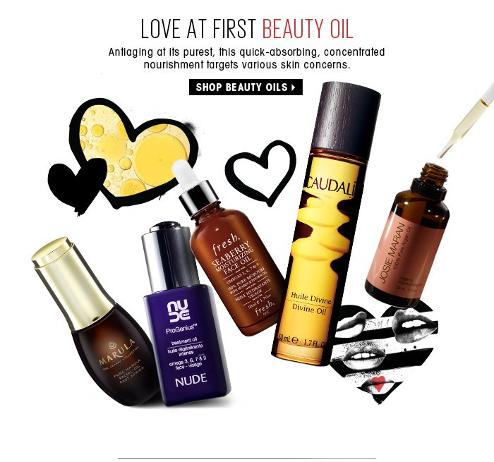 Love At First Beauty Oil. Antiaging at its purest, this quick-absorbing, concentrated nourishment targets various skin concerns. Shop beauty oils
