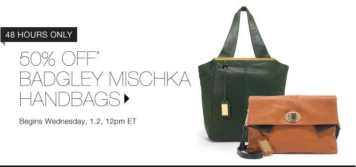 50% Off* Badgley Mischka Handbags…Shop Now