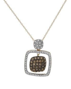 0.7 CTW Diamonds Ladies Necklace Designed In 14K Two Tone Gold