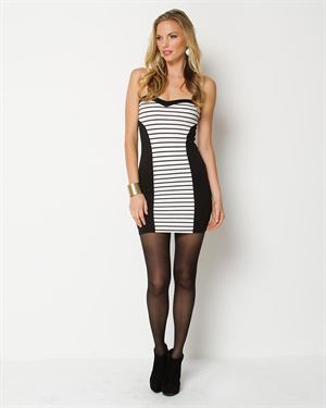 Misope Strapless Striped Dress