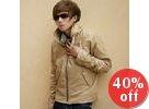 Faux-Leather Zip Jacket