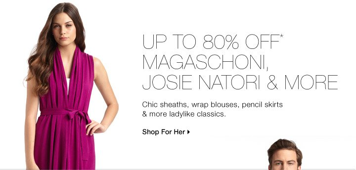 Up To 80% Off* Magaschoni, Josie Natori & More