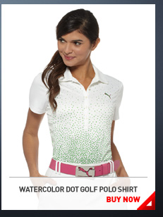 WATERCOLOR DOT GOLF POLO SHIRT