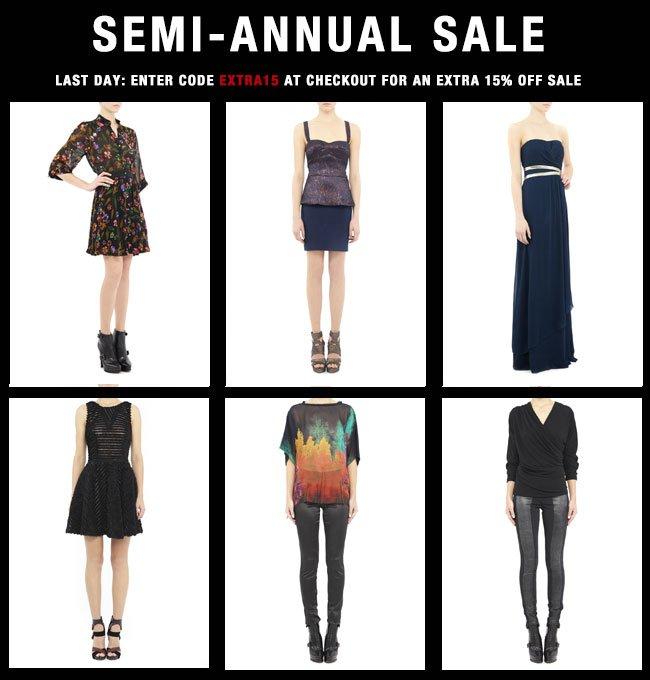 Semi-Annual Sale 15% off
