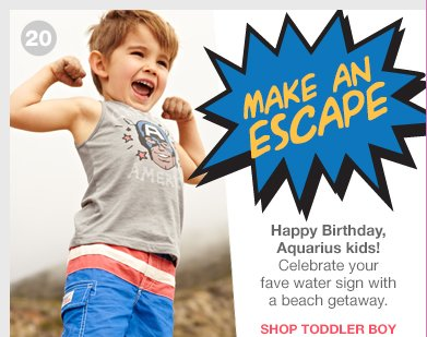 MAKE AN ESCAPE | Happy Birthday, Aquarius kids! | Celebrate your fave water sign with a beach getaway.