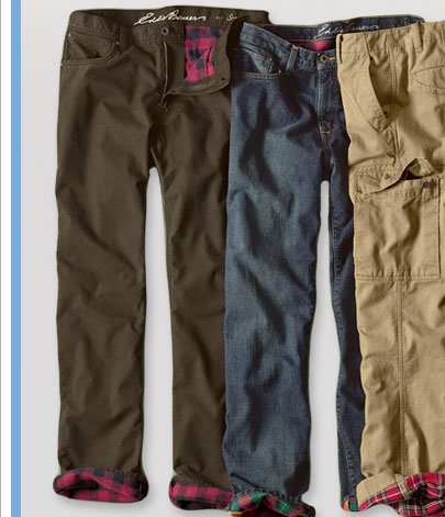 Eddie Bauer: 5 Star Flannel-Lined Jeans & Pants On Sale. Plus ...