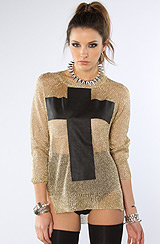 The Prayer Sweater in Gold