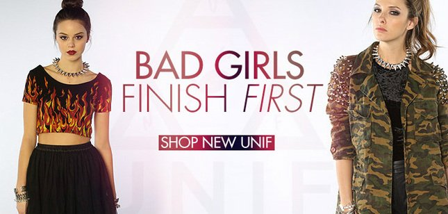 Bad Girls Finish First. Shop New Unif!