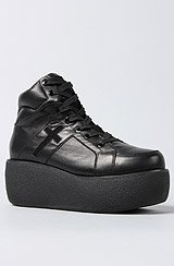 The Cross Trainer Shoe in Black Leather