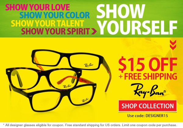 Ray-Ban Frames = $15 Off + Free Shipping!