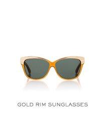 GOLD RIN SUNGLASSES
