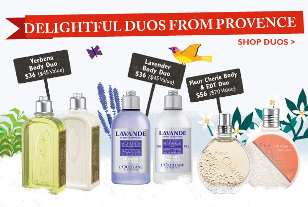 Delightful Duos from Provence  Buy them together and get 20% off!