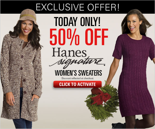Hanes Signature Sweaters 50% off