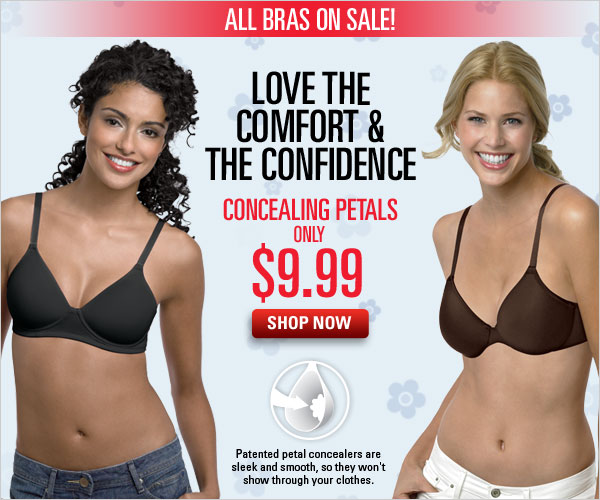 Bra Sale. Concealing Petal Bras only $9.99