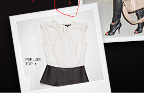 Click here to shop Peplum Top